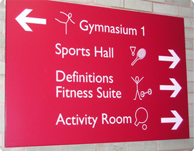 Leisure centre Signs