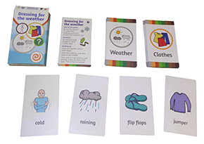 Dressing for weather cards