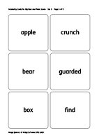text and symbol cards